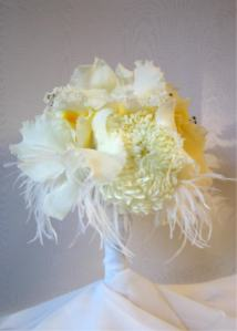 wedding, for magazine white with feathers